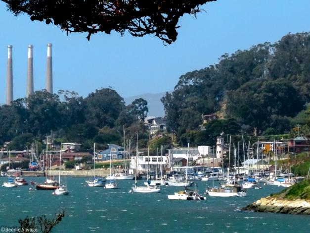 Port Morro Bay and PGE smoke stacks