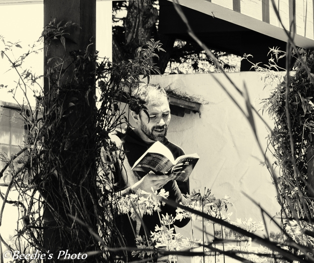 The Reader, male black and white photography
