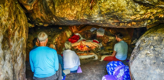 Cave Meditating